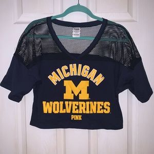 PINK Michigan Wolverines Crop Top - NWOT